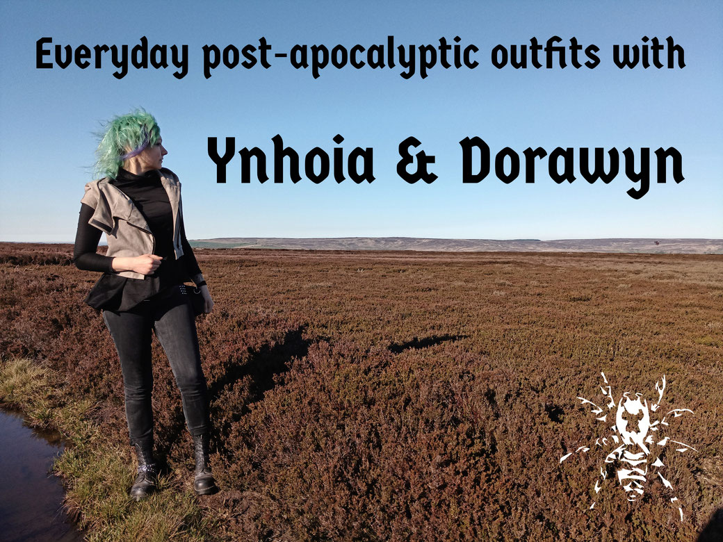 Everyday post-apocalyptic outfits with Ynhoia and Dorawyn - Zebraspider Eco Anti-Fashion