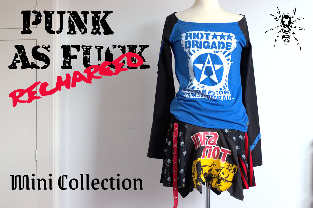 Punk as Fuck Recharged Mini Collection - Zebraspider Eco Anti-Fashion