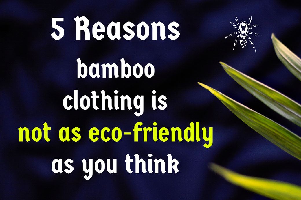 5 Reasons bamboo clothing is not as eco-friendly as you think - Zebraspider Eco Anti-Fashion Blog