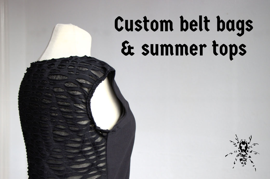 Custom belt bags and summer tops - Zebraspider Eco Anti-Fashion