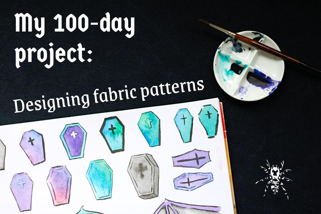 My 100-day project: Designing fabric patterns - Zebraspider Eco Anti-Fashion Blog