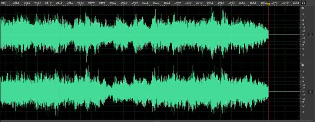 Onde sonore lors d'une capture audio