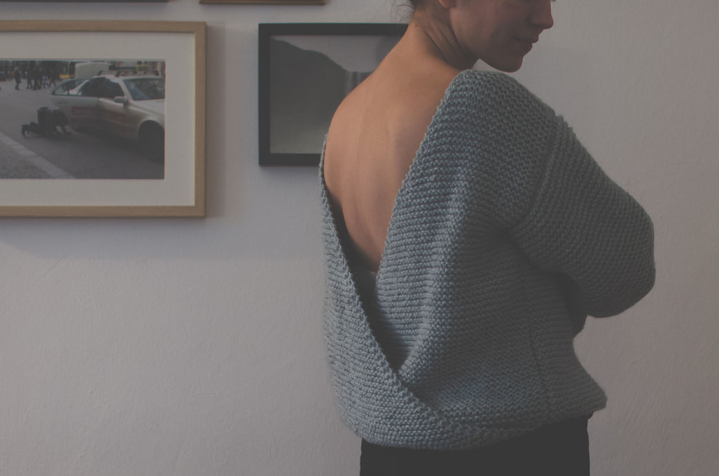 Knit your own open back sweater ♡ felicity DIY Blog