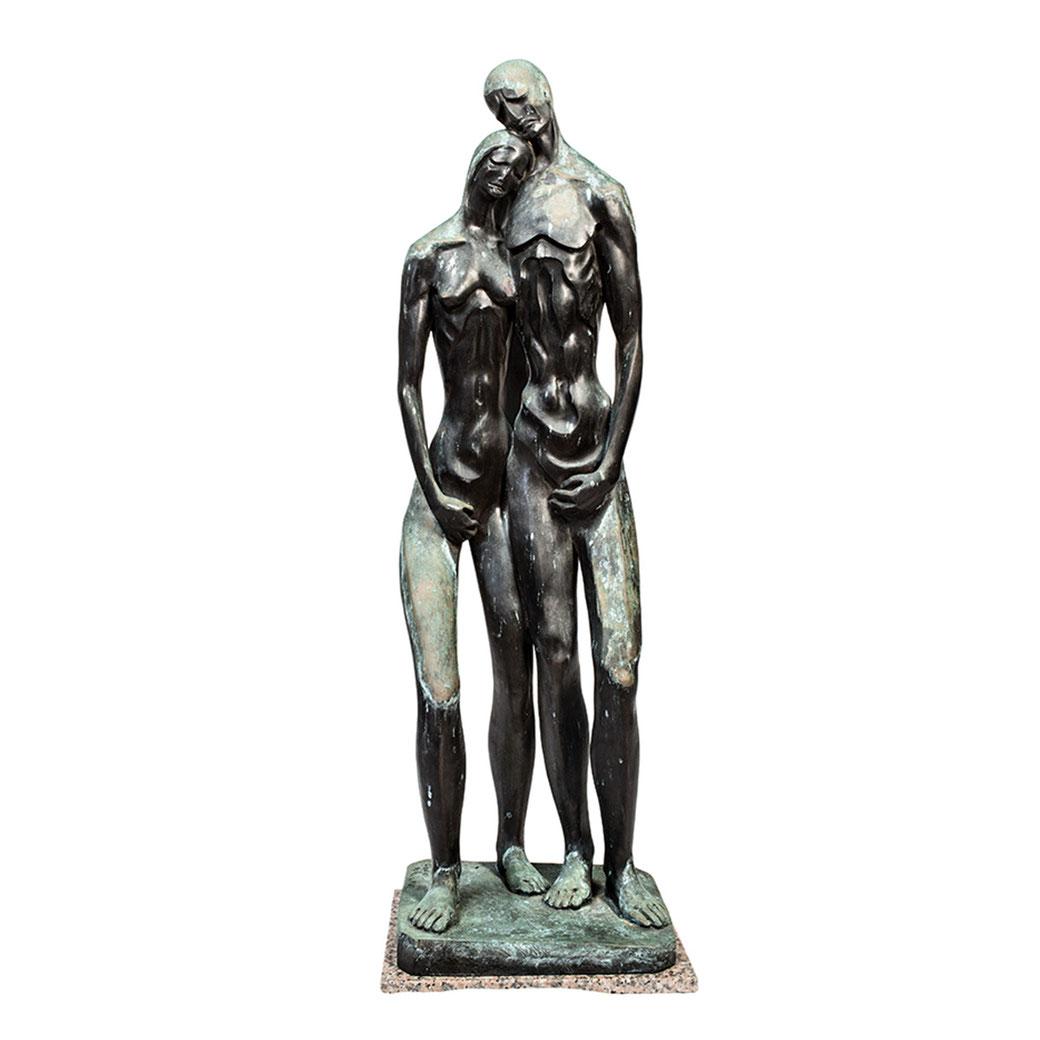 Adán y Eva II. Bronce. 129x42x35 cm. Años 90. Col. Eladio de la Cruz