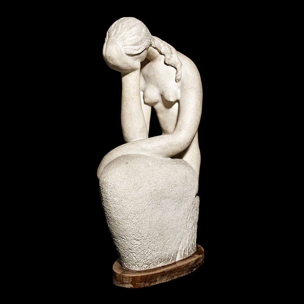 Abatida. Piedra artificial. 76x26x45 cm. 1971. Cabildo Insular de Tfe. Primer Premio. XII Exposición Regional