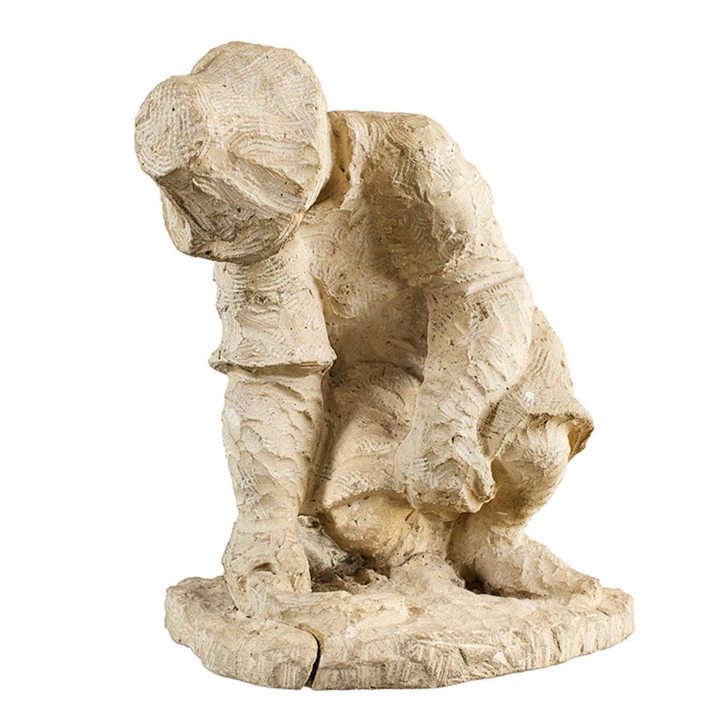 Desaliento. Piedra artificial. 48,5x41x43 cm. 1964. Col. particular. Mención de Honor. V Exposición Regional