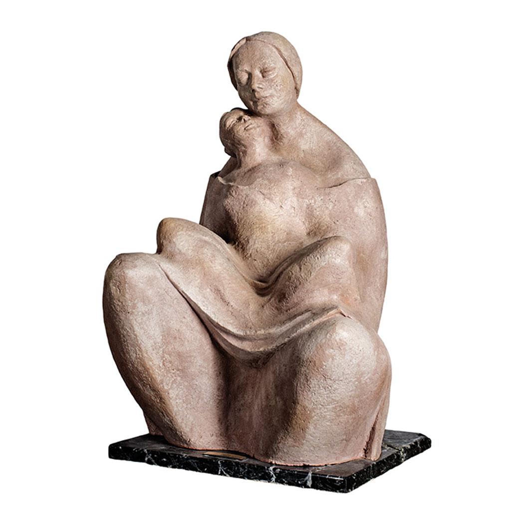 Maternidad. Terracota. 59x38x41 cm. 1986. MACEW