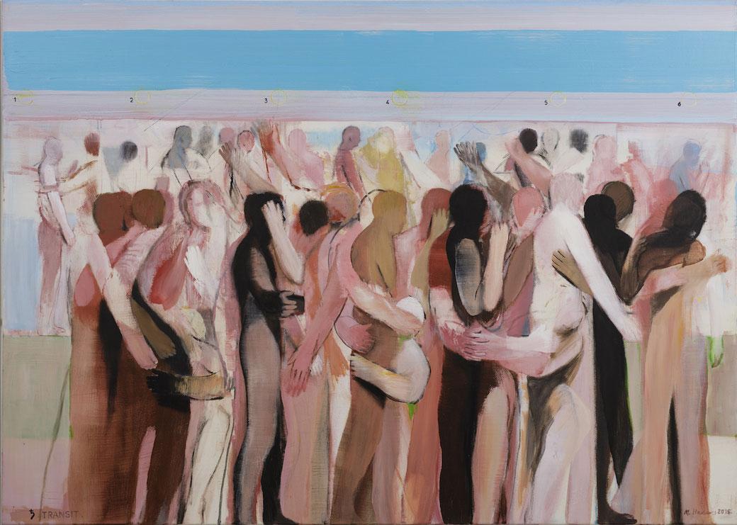 Michael Hedwig, Transit, 2015, Acryl auf Leinwand, 100x140cm