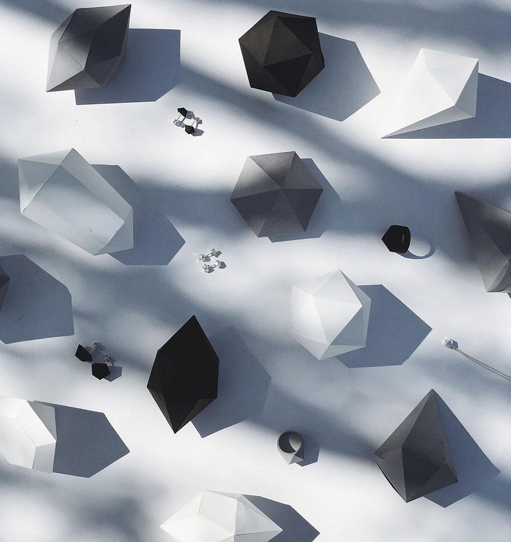geometrische Schmuckkollektion