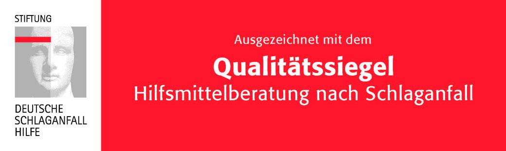 Qualitätssiegel Qualifizierung Zertifizierung Schlaganfall Hilfe Sanitätshaus Klinz Sachsen-Anhalt Bernburg