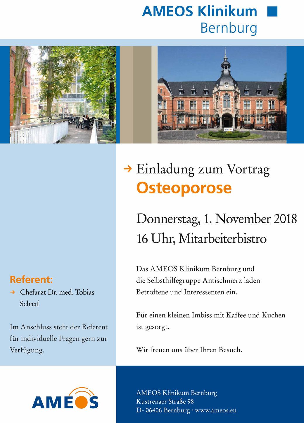 Sanitätshaus Klinz Bernburg Osteoporose Ameos Bernburg