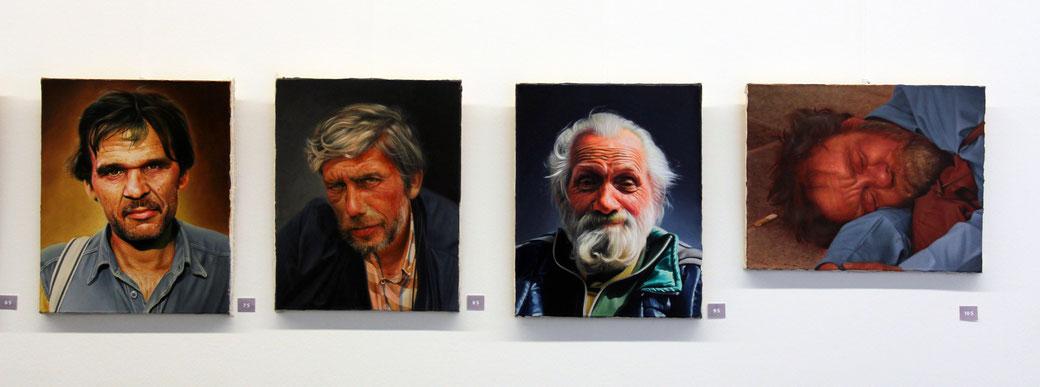 Klaus Soppe, 'Stadtstreicher', gemalt nach Modellen aus dem realen Leben. Foto: DHBW Heilbronn.