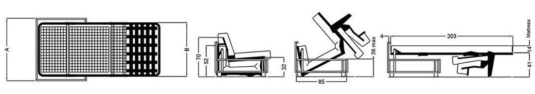 Misure divano letto