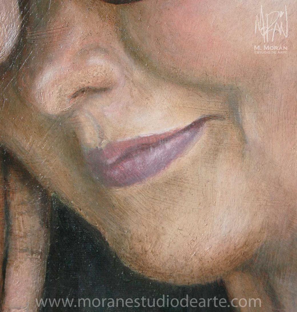 Detalle de retrato al oleo