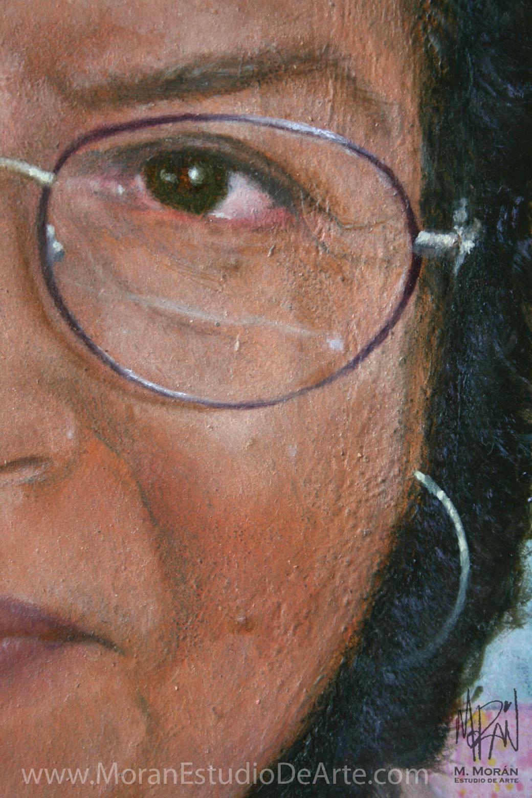Retrato al oleo de abuelita mama