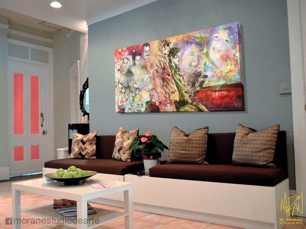 decorando una sala pequeña con cuadro