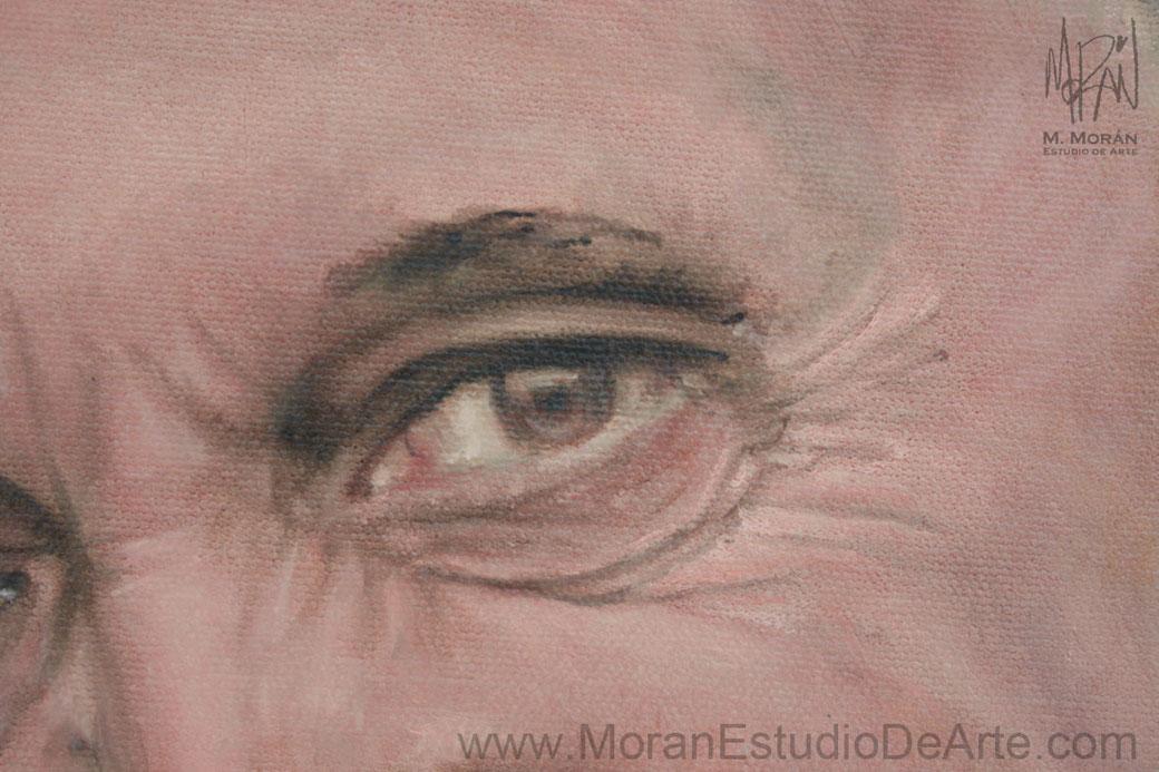 Retrato al oleo sobre tela Papa Francisco