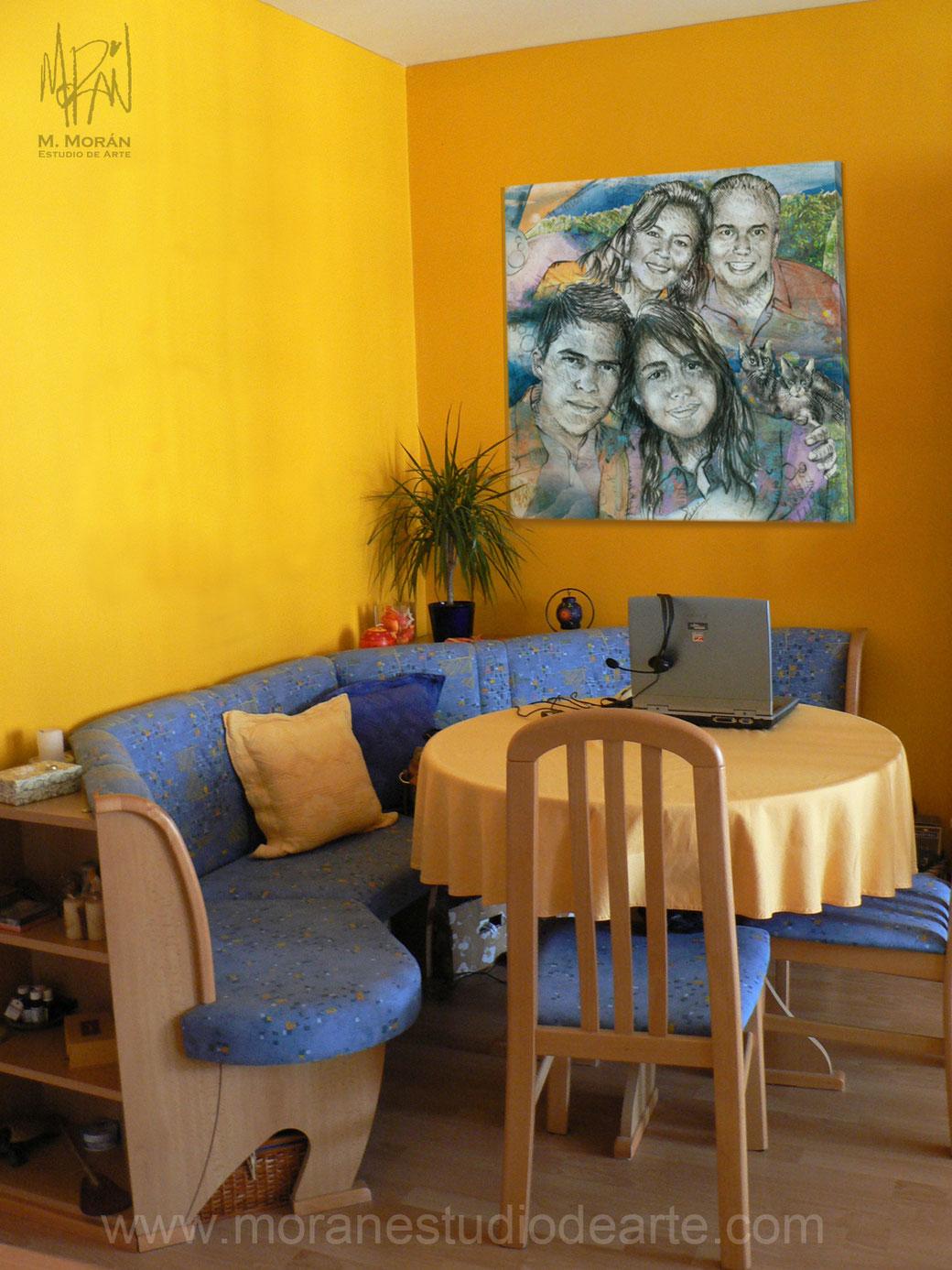 cuadro para pared amarilla