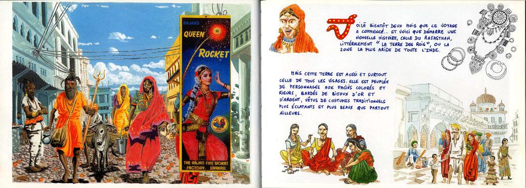 """A Pushkar, premier voyage en Inde en 1997. Extrait de """"Carnet d'Inde""""."""