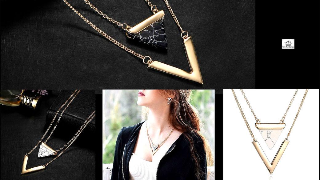 Bijoux de créateur collier femme chaine et pendentifs chic et Tendance pour Elle