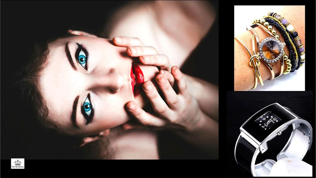 montre femme mode bracelet cuir ou acier