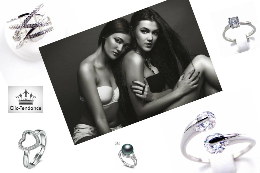 bague anneau et solitaire bijoux femme
