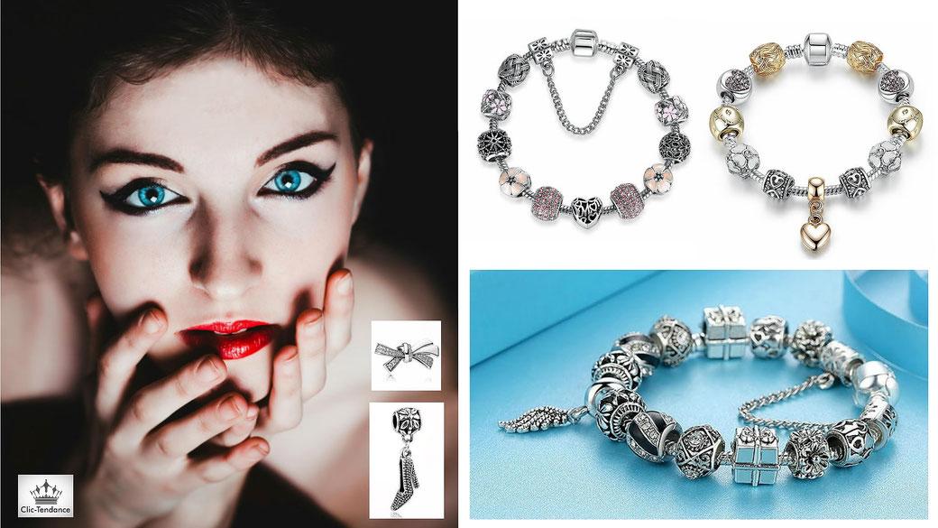 bracelet pandora avec charms pas cher