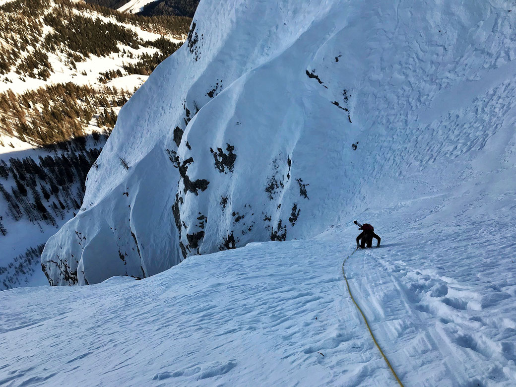 Skitour Latschur Nordwandrinne vom Sportberg Goldeck