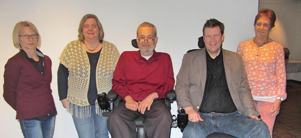 Auf dem Bild von links: Anne Groeneweg, Sandra Meyer, Christian Züchner, Jörn Malanowski, Elfriede Wilts