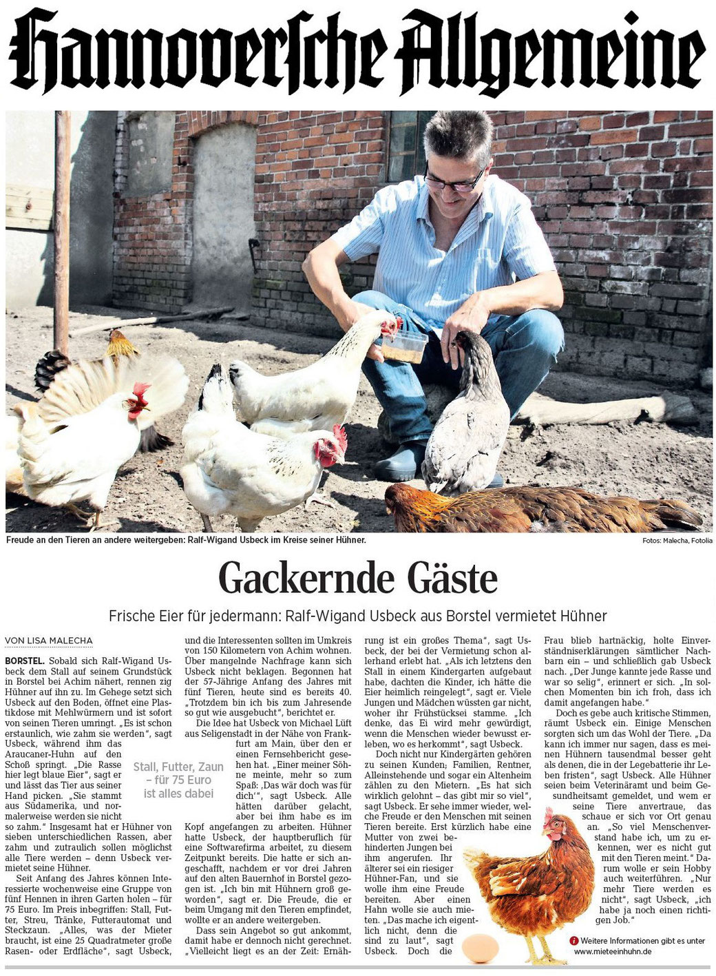 Hannoversche Allgemeine Zeitung 30.06.2016
