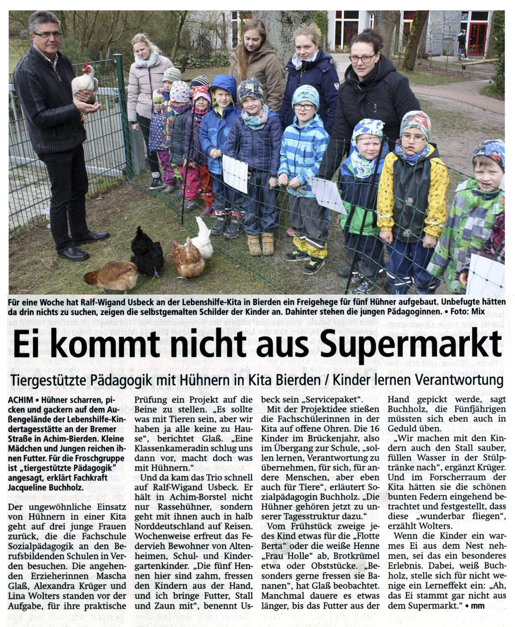 Kreiszeitung Achim 18.03.2017