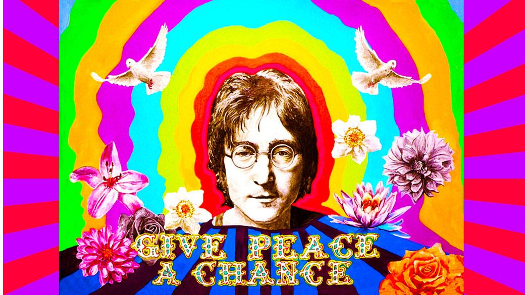 John Lennon Give peace a Chance poster