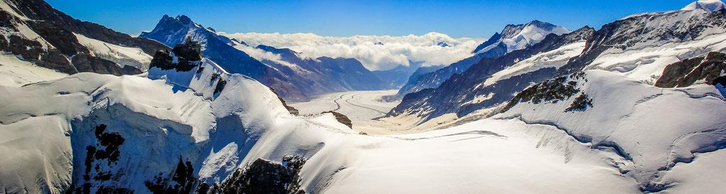 Flugzeug Alpenrundflug Jungfraujoch