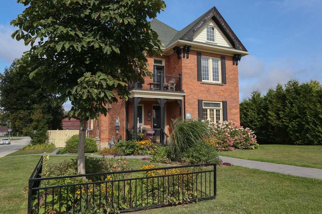 Front entrance Danby House. Luxury accommodation, Markdale Ontario Grey County. Maximum occupancy 10 people.