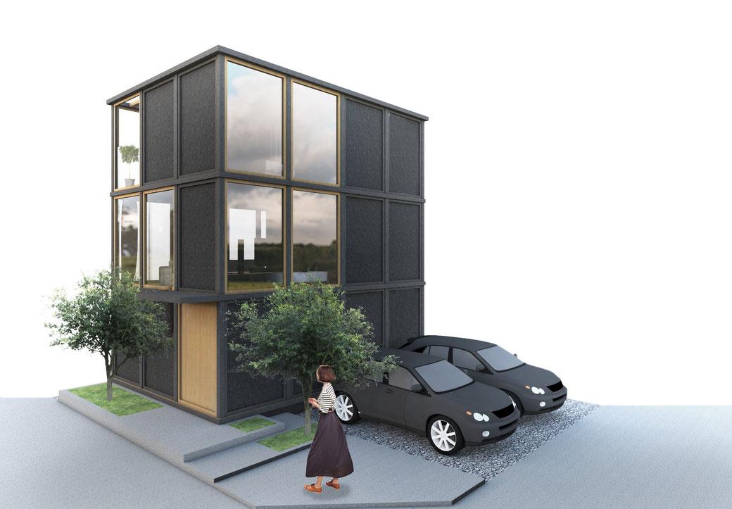 3 story house   Kanagawa, Japan