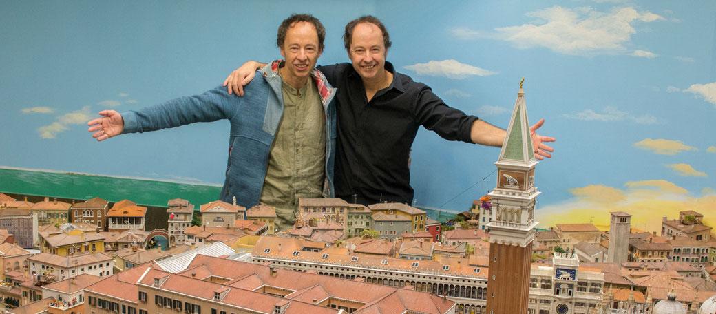 Zwillingsbrüder Gerrit und Frederik Braun (Gründer und Leiter des Miniatur Wunderlandes)