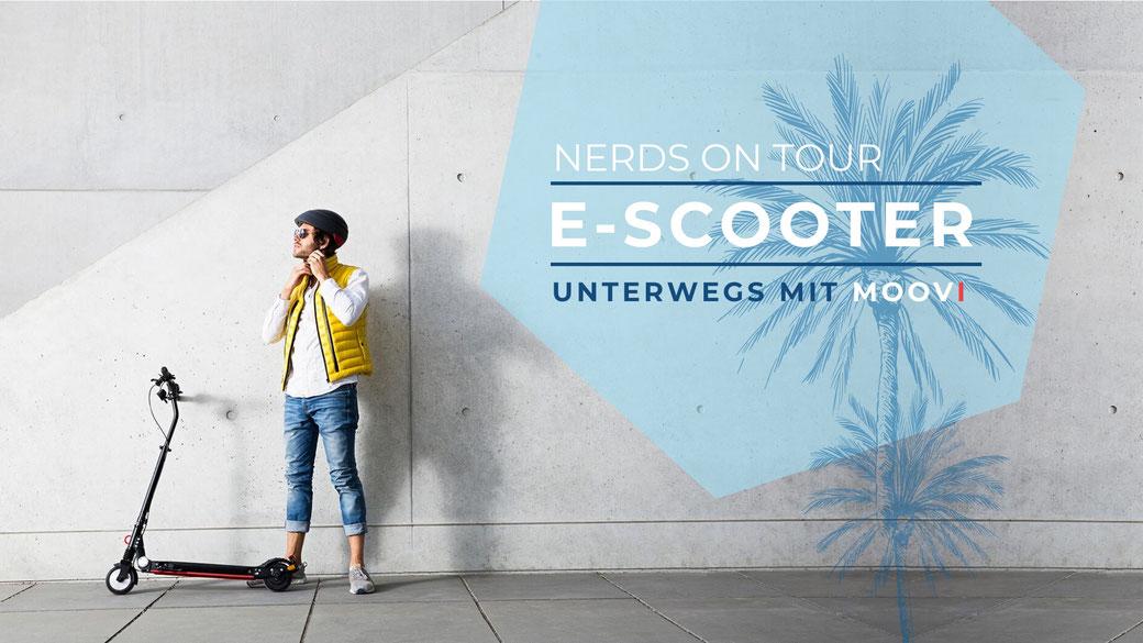 Erfahrung, Erfahrungen, Unterwegs, Moovi, E-Scooter, E-Roller, Erwartungen, Bericht, Urlaub