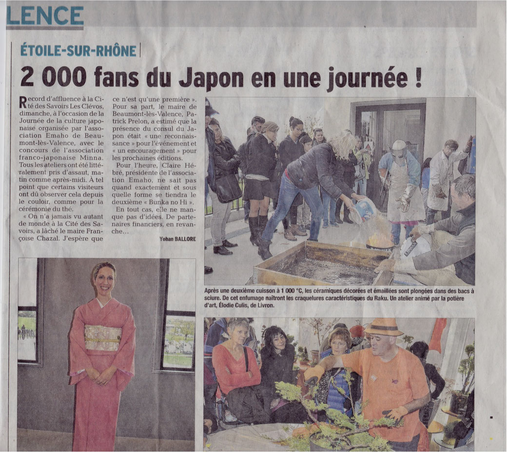 Article du Dauphiné Libéré du mardi 8 novembre 2016