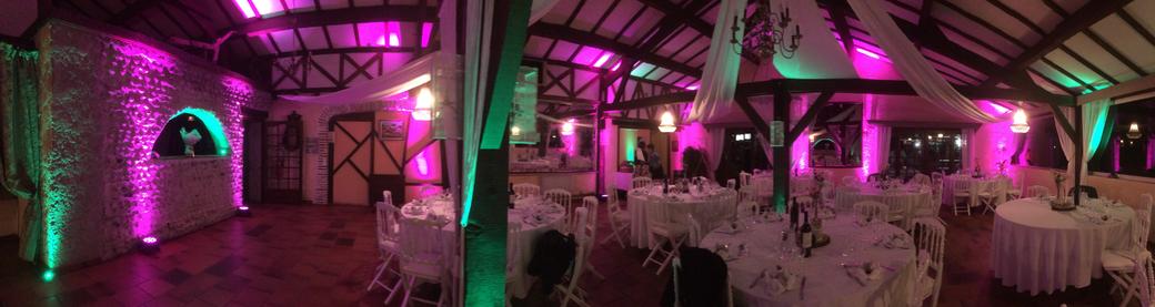 La salle de mariage du Moulin de Parabère à Larreule (65)