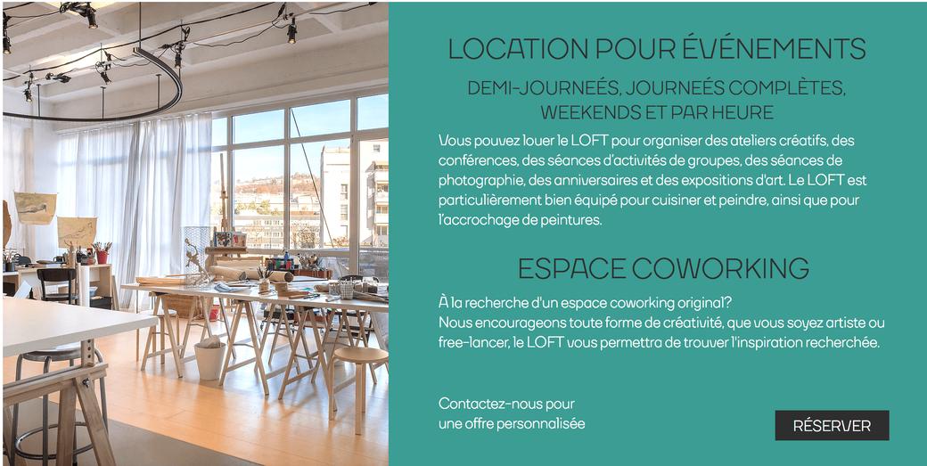 Location de salle à Lausanne pour vos événements, ateliers, stages, conférences avec espace coworking
