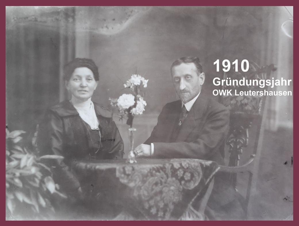 Bild: Meyer Heller, Mitbegründer des OWK-Leutershausen im Jahre 1910, mit Gattin