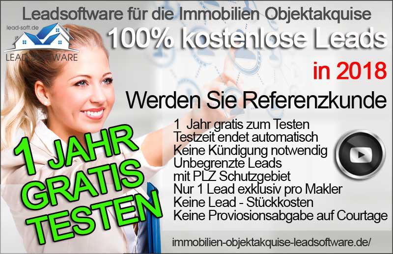 Kostenlose Lead Software Immobilien Objektakquise Akquise Software Makler Software Kostenlose Lead Generierung
