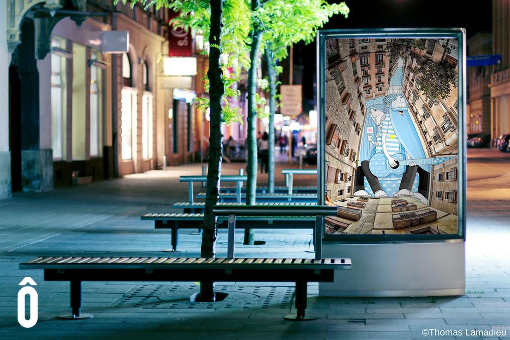 Ôboem remplace la publicité par des oeuvres d'art
