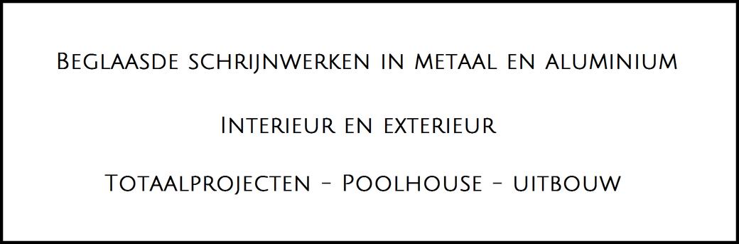 Metalen ramen en deuren voor binnen en buiten , totaalprojecten voor uitbouw en poolhouse