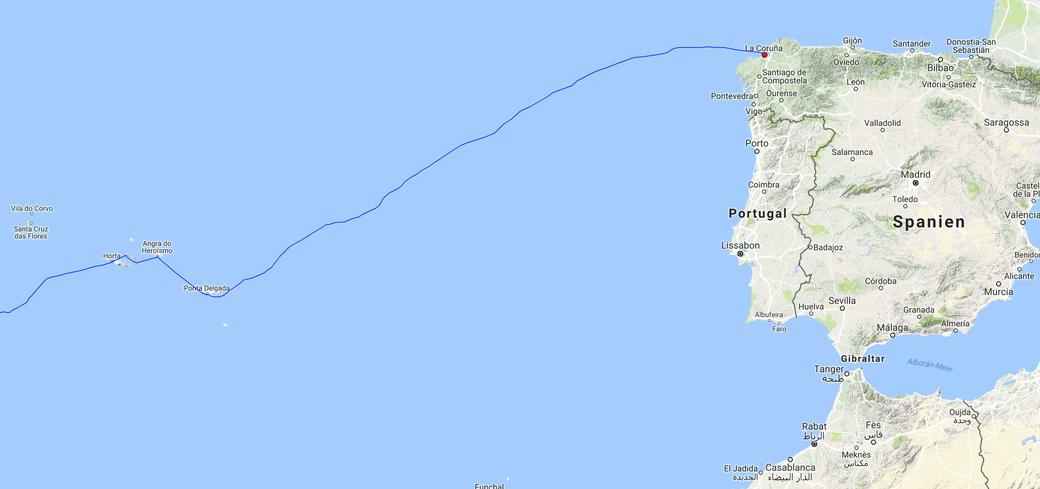 Überfahrt Azoren nach Nordspanien