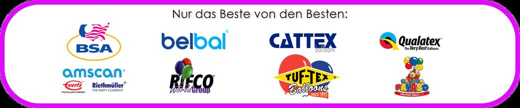 AMSCAN - BELBAL - BSA - CATTEX - QUALATEX - RIFCO / BWS - TUFTEX - GLOBOS PAYASO LUFTBALLONS BALLOONS