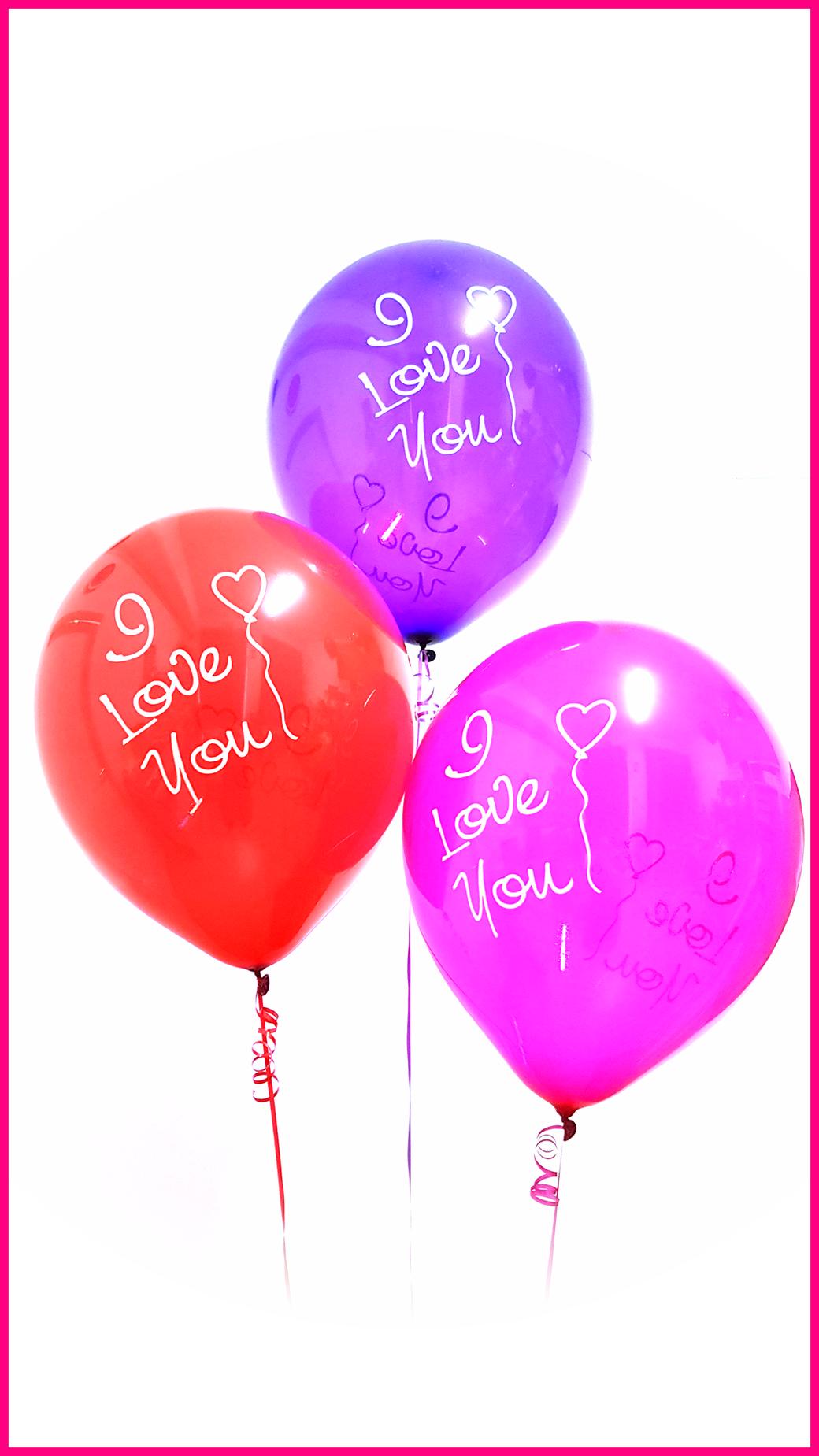TUFTEX Riesenballon Riesenballons Giant balloon Luftballon Kristall Crystal rot red lila purple pink fuchsia magenta I love You Ich liebe dich MCR
