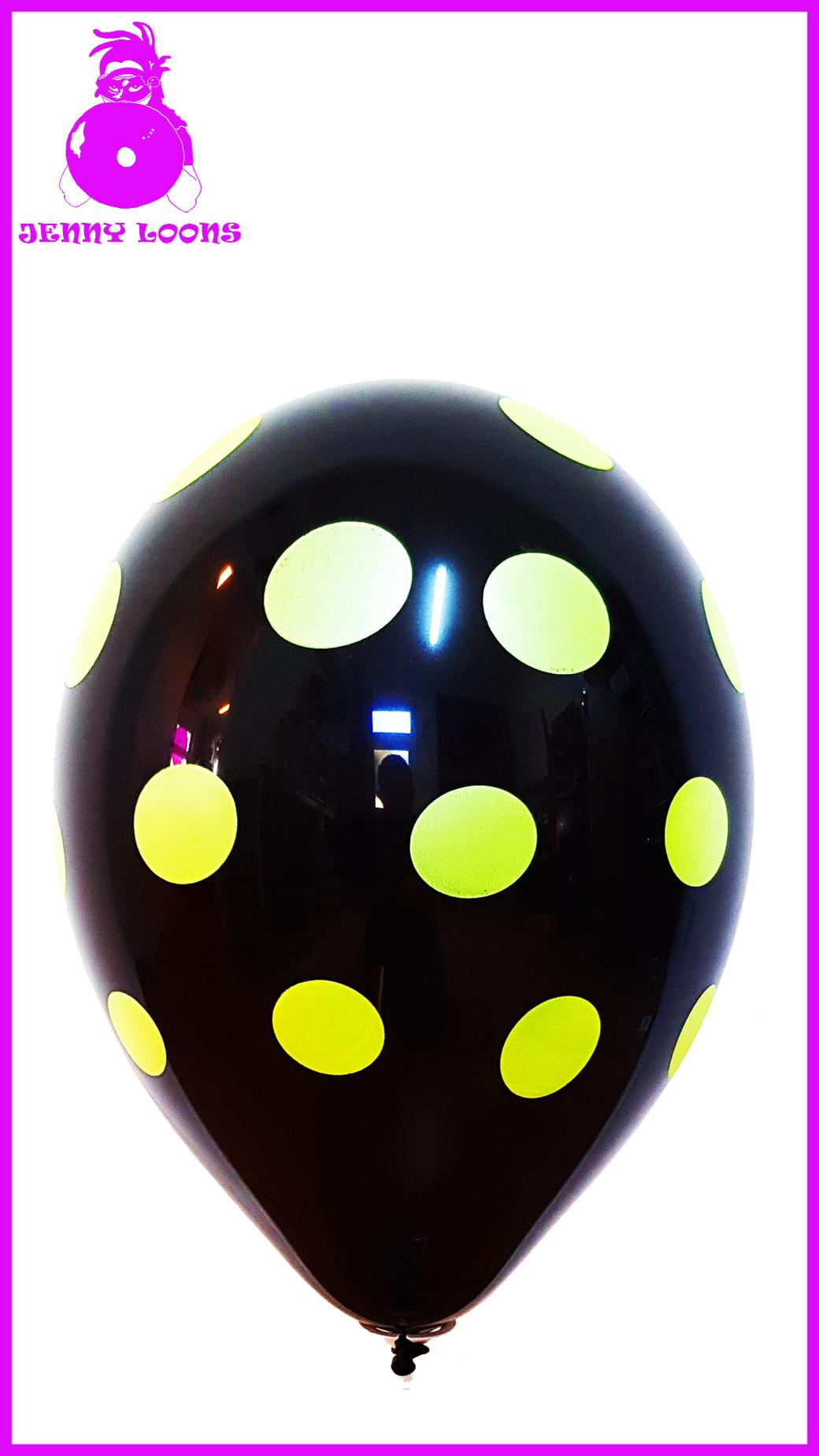 """CATTEX Polka Dots 11"""" Neon Luftballon Balloon"""