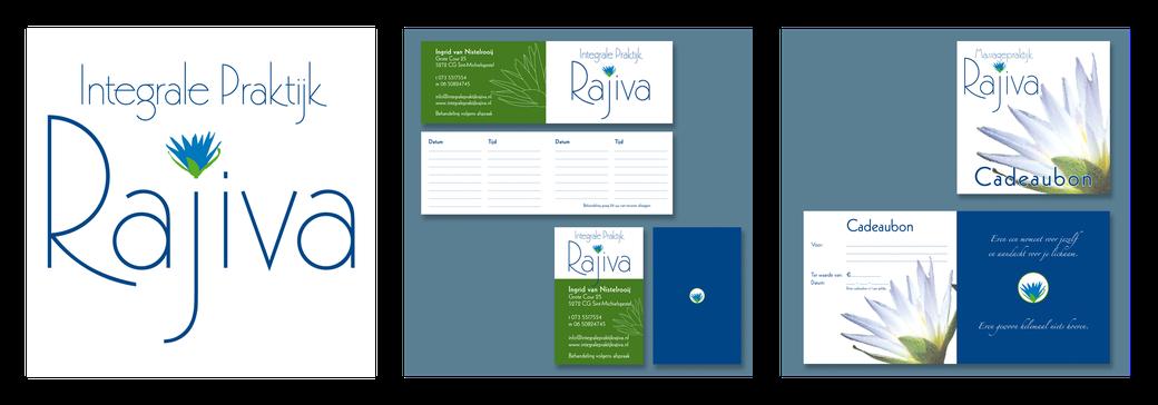 Integrale Praktijk Rajiva | logo | afsprakenkaart | visitekaart | cadeaubon