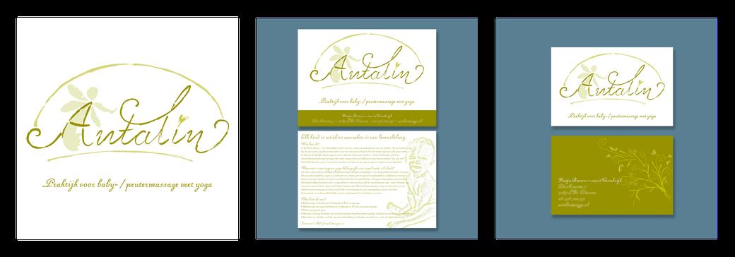Antalin | logo | A5 folder | visitekaart
